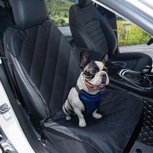Image 2 - CAWAYI kulübesi Pet taşıyıcılar ön klozet kapağı arabalar için çapa ile su geçirmez köpek araba klozet kapağı taşıma küçük köpekler için PS6892