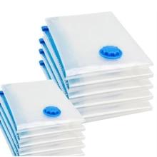 Vacuum-Bag Valve-Storage-Bag Seal-Packet Compressed-Organizer Space-Saver Foldable Transparent