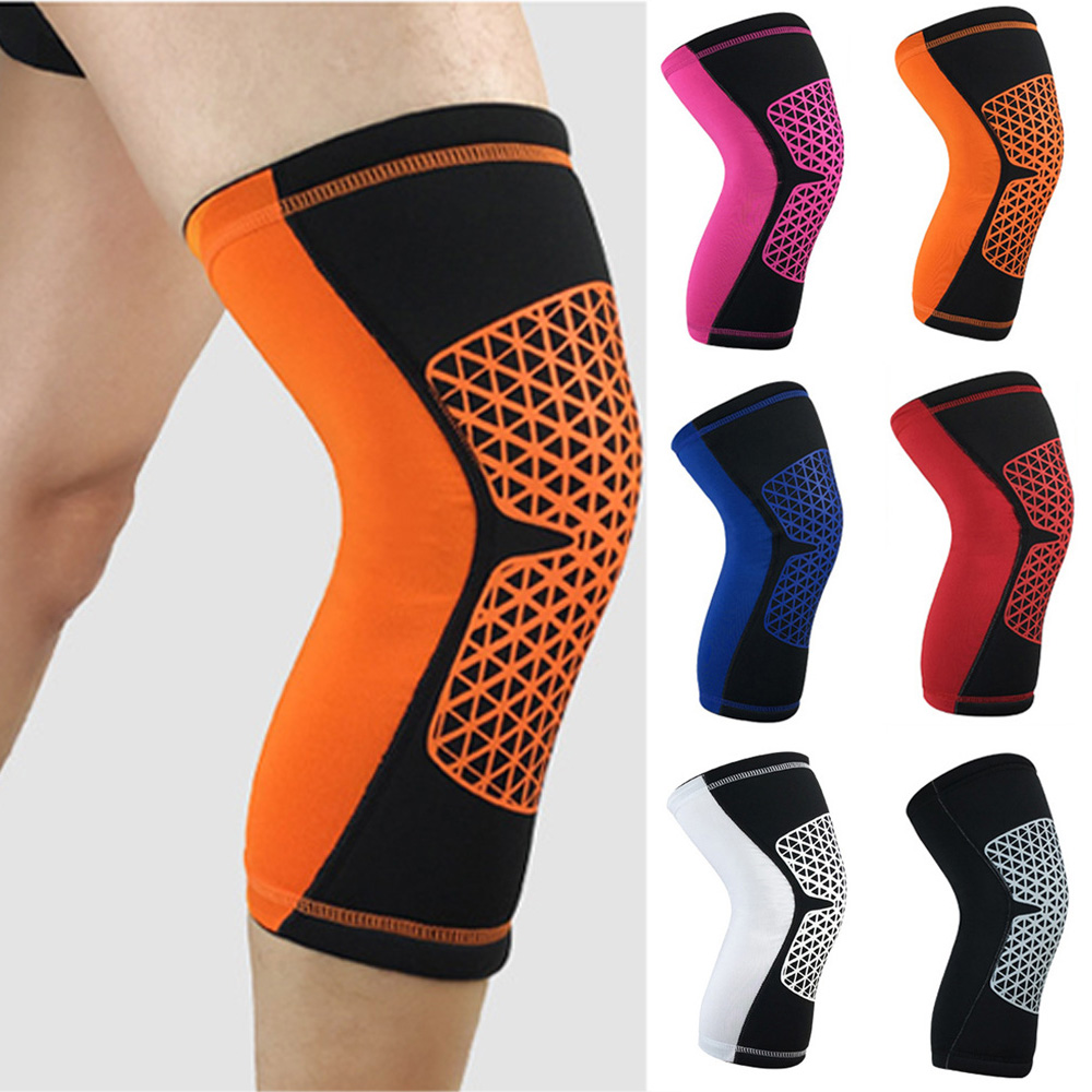 Sports Short Knee Protectors Non-slip Protective Gear Stylish Grid Pattern