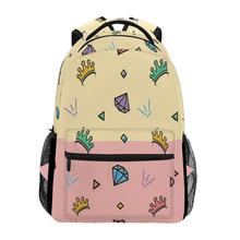 ALAZA School Bags Students Backpack Children Cute pattern print Backpack for Teenager boy Girl Book Bag Women Laptop Backpacks dispalang cute dog computer backpack for teenager animal 3d print laptop school bags for children tourism shoulder book bag