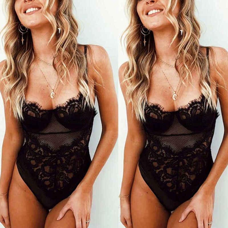 ใหม่ล่าสุดอินเทรนด์ lace Bodysuits ชุดชั้นใน Cross สุภาพสตรีเซ็กซี่ Laces ชุดชั้นในชุดนอนชุดชั้นในสตรี Bodysuit ชุดนอน