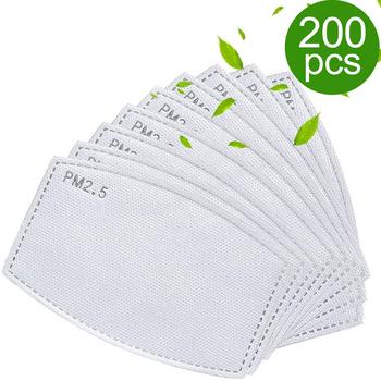 20 50 200 sztuk 5 warstwy PM2 5 maska z filtrem wymiana klocki dla PM25 maska z filtrem usta twarz skóra ochronna przyjazny pyłoszczelna Pad tanie i dobre opinie YUKUI Chin kontynentalnych Personal NONE Jednorazowego użytku Dla dorosłych two layer meltblown Activated carbon non-woven fabric