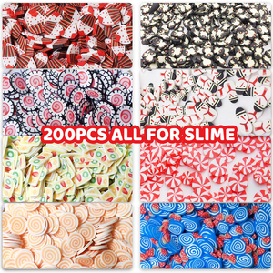 200Pcs Soft Pottery Fruit Slices Slime DIY For Nail Supplies Phone Accessories Charms For Slime Fluffy Lizun Kit Child Toys(China)