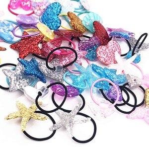 1 шт. милые ободки для девочек с сердечками и звездами Детские эластичные ленты для волос аксессуары для волос Детские женские резинки повязка на голову