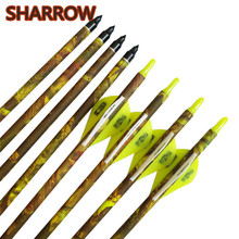 6/12pcs 32 SP 600 Archery Carbon Arrow Broadhead With Bow Outdoor Training Hunting Shooting Accessories