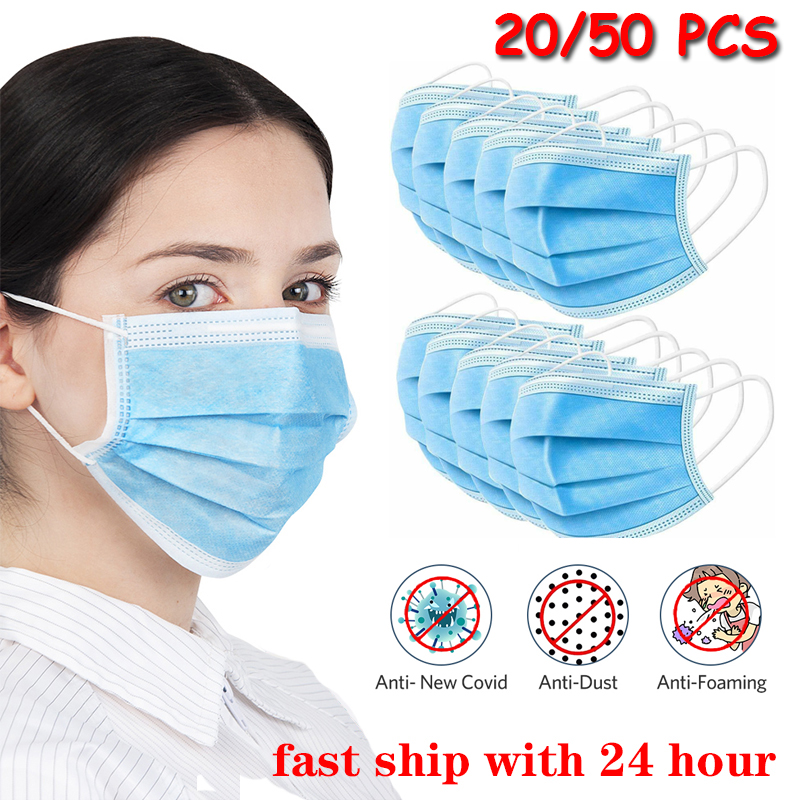 Disposable N95 Dustproof And Antibacterial 3 Layer Blue Mask