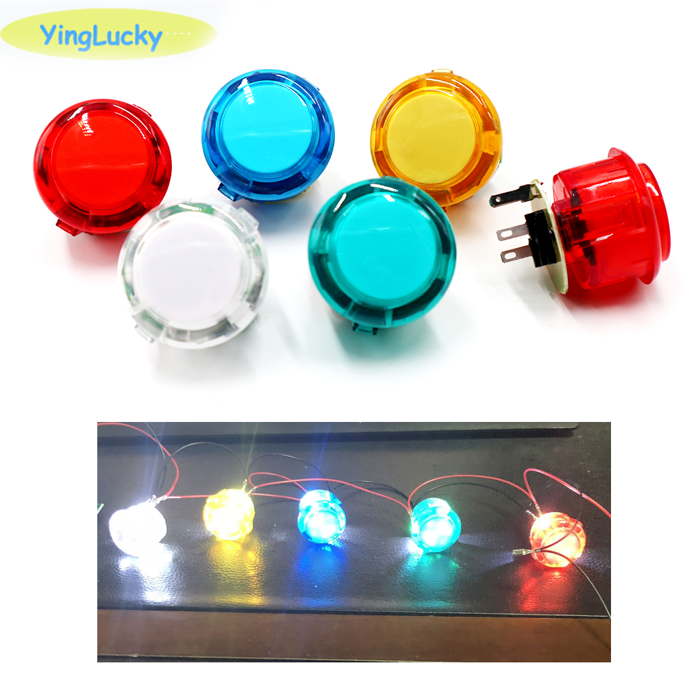 1pcs 30mm 24mm LED Arcade Push Button Sanwa Button Switch 5V Illuminated Arcade Button Cabinet Accessories