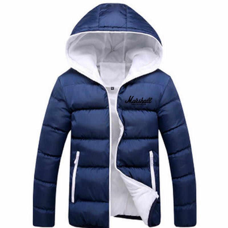 2019 男性カジュアルフード付きパーカーファッションプリント冬男性ファッションパッチワーク綿スリムフィットコート厚く暖かい Homme'sZipper ジャケット