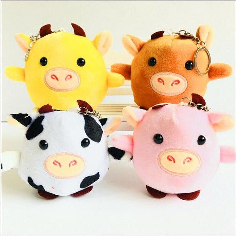1Pcs New Year 2021 Bull New Plush Toys Cute Calf Doll Small Cow Rag Stuffed Toys Doll Pendant Keychain Children's For Girl 8cm