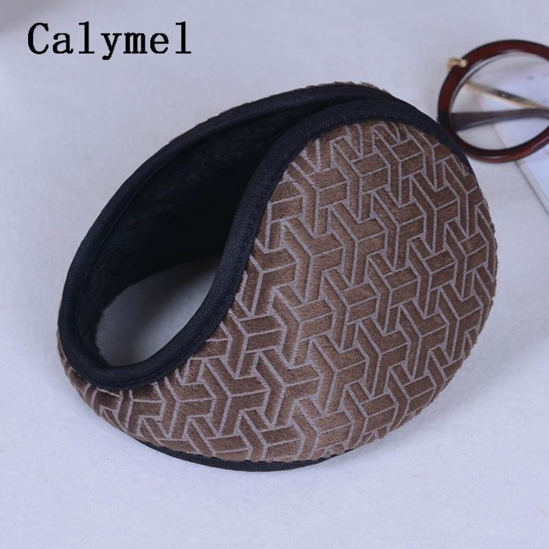 Calymel Fashion Winter Earmuffs Warm Ear Warmer Cashmere Ear Muff Ear Cover Bag Back Wear Earflap For Men Women