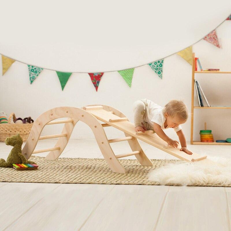 XIHAToy-échelle d'escalade triangulaire avec cadre en bois pour enfants, jouet, équipement de jeu d'intérieur, gymnastique pour enfants - 3