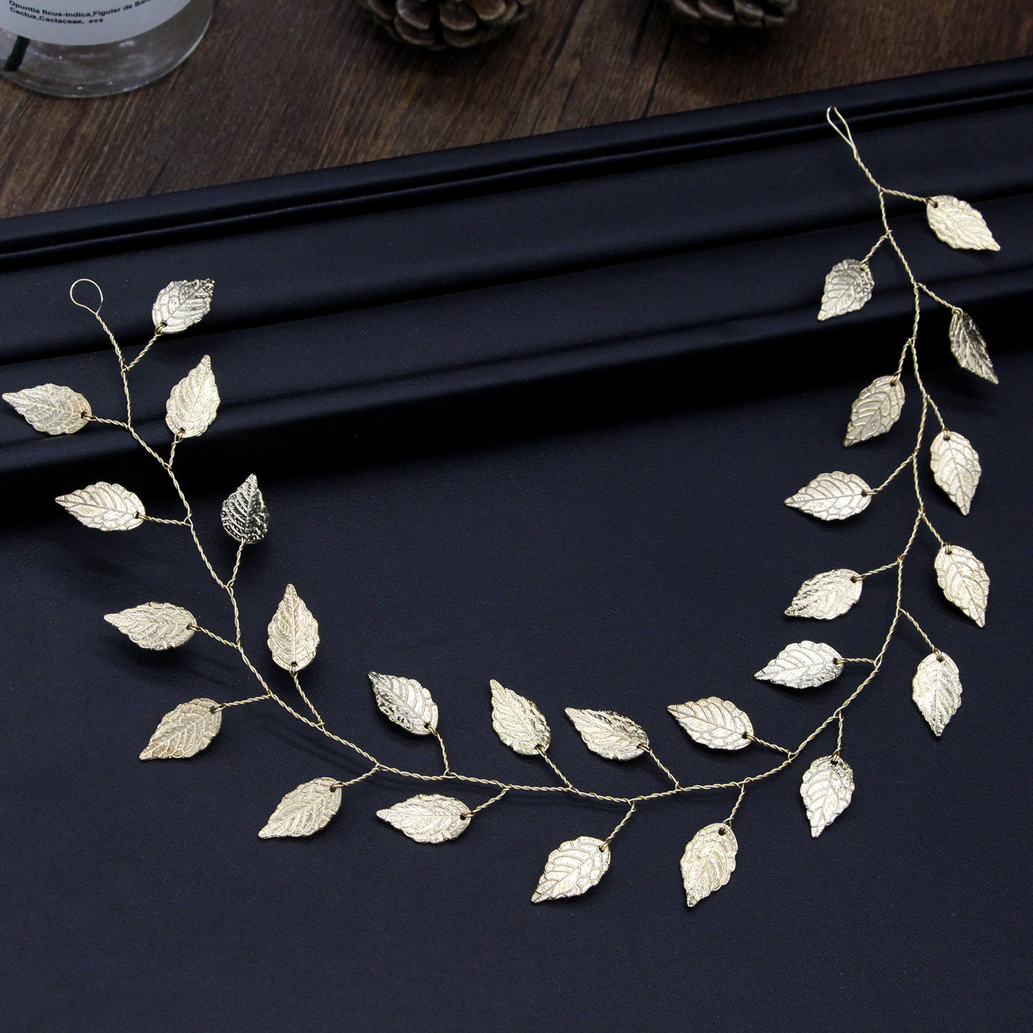 Silver Gold Wedding Hair Jewelry Cheap 2019 Bridal Headwear Leaves Simple Wedding Accessories Headband Hairpiece