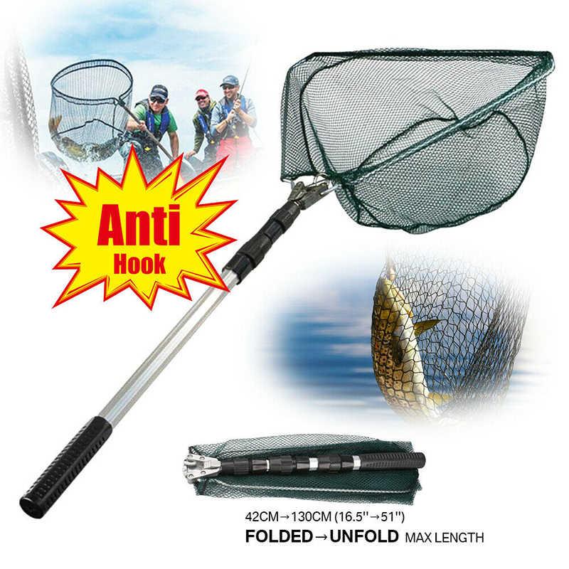 Landing Net Telescopic Folding Fishing Extending Fly Carp Long Handle 3 Sizes