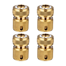 4 Pc Brass Hose Connector Hose End Quick Connect Fitting 1/2 inch Hose Pipe Quick Connector for Gardening Home Watering,Car Wash kxl12 03s kxl12 04s smc connector high speed rotary quick coupler air hose fitting quick connect have stock