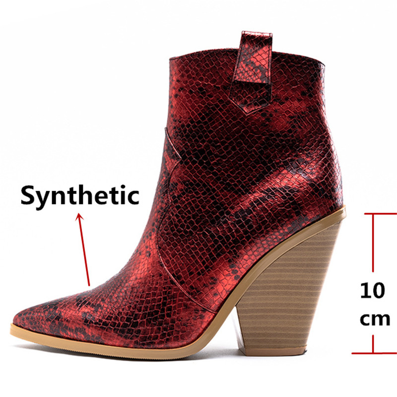 Image 3 - FEDONAS Winter Female Plus Size Chunky Heels Party Night Club Shoes Woman Brand Women Leather Ankle Boots Classic Western Boots-in Ankle Boots from Shoes
