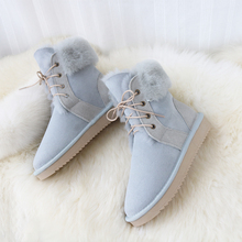 цены G&Zaco New Genuine Sheepskin Boots Women Sheep Wool Boots Shoes Suede Leather Sheep Fur Boots Mid-calf  Flat Warm Winter Shoes