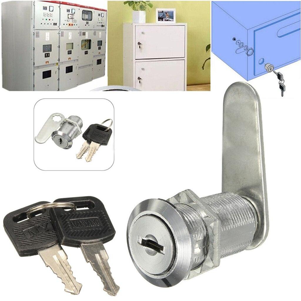 16mm-30mm leva Lock Door Cabinet Cylinder Locker Letter buzón cajón perilla de cierre para armario carta buzón cajón armario + llaves