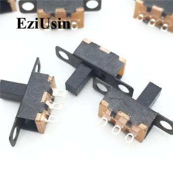 Zabawki przełącznik 1P2T ON-OFF przełącznik dwupozycyjny mikro przełącznik suwakowy 3PIN 2 pozycja uchwyt wysokiej 6mm SS12F15G6 SS-12F15 VG6 G-przełącznik P N tanie i dobre opinie EZIUSIN Toy switch VG6 G6 Z tworzywa sztucznego Toggle Switch
