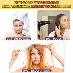 Image 2 - Livraison gratuite microfibre cheveux séchage rapide sèche serviette 25cm x 65cm serviette de bain chapeau bouchon rapide Turban sec