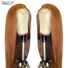 I-Envy Ginger Blonde Lace Front Wig Straight Pre Plucked 13X4 Wigs Colored 30 Human Hair Non Remy