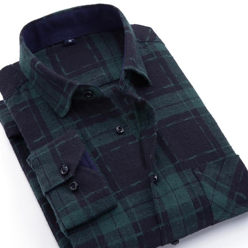 2019 Lente En Herfst Mode Nieuwe Mannen Casual Geschuurd Plaid Shirt/mannen Met Lange Mouwen Flanel Business Slanke Shirt