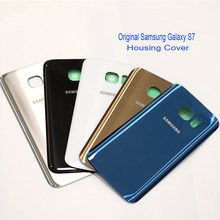Samsung Galaxy S7 Original Back Glass Battery Cover Rear Door Housing Case Samsung s7 back glass Cover For Galaxy S7 G930F(China)