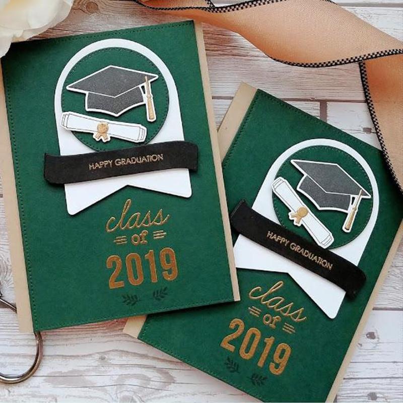 Cute Bear Graduation Metal Cutting Dies Stencils Stamp Set For DIY Scrapbooking Photo Album Card Maker Decoration Craft New 2019
