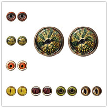 Dragon Mata Jahat Anting-Anting Punk Mata Jahat Kaca Cabochon Fashion Stud Earrings Perhiasan Hadiah untuk Wanita Gadis 2019 Hotsale Grosir(China)