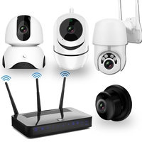Wireless Home Security Camera System Kit 1080P IP Camera 4pcs HD Night Vision Two Way Audio Motion Detection Video Surveillance