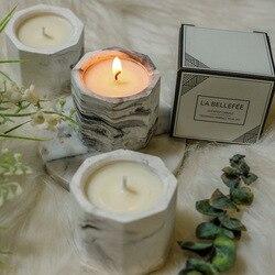 Kreatywny wosk sojowy romantyczne świece do aromaterapii z ośmiokątnym woskiem kokosowym na prezenty do dekoracji wnętrz|Świece|   -