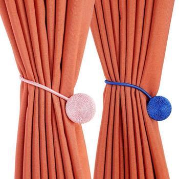 1pc Brief Braided Round Curtain Buckles 2