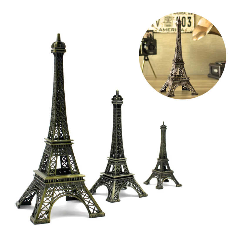 5-13 Cm Perunggu Menara Paris Kerajinan Logam Patung Model Dekorasi Rumah Model Souvenir Anak-anak Mainan untuk Anak hiasan Gantungan Kunci