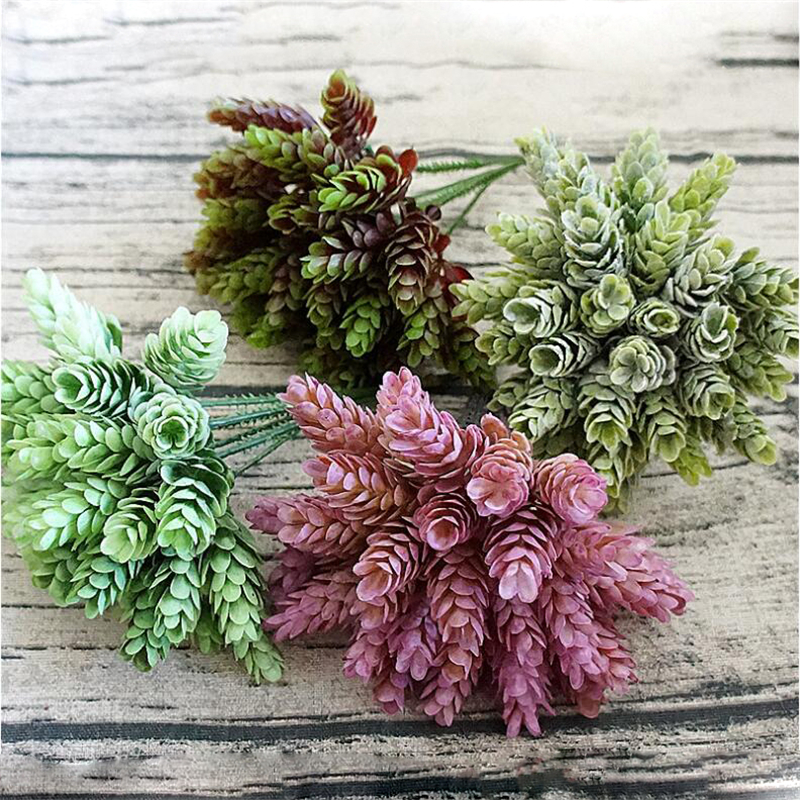 1pc 30 Heads Artificial Pineapple Fake Plastic Green Leaves Flores Flowers DIY Flower Arrangements Wedding Decoration Plant Leaf