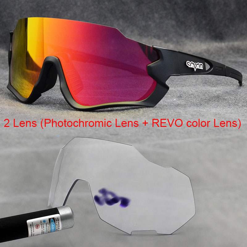 Photochromic Bicycle Sunglasses MTB Road Polarized Cycling Glasses 2 Lens Outdoor Sport Glasses Man Women Bike sunglasses skiing