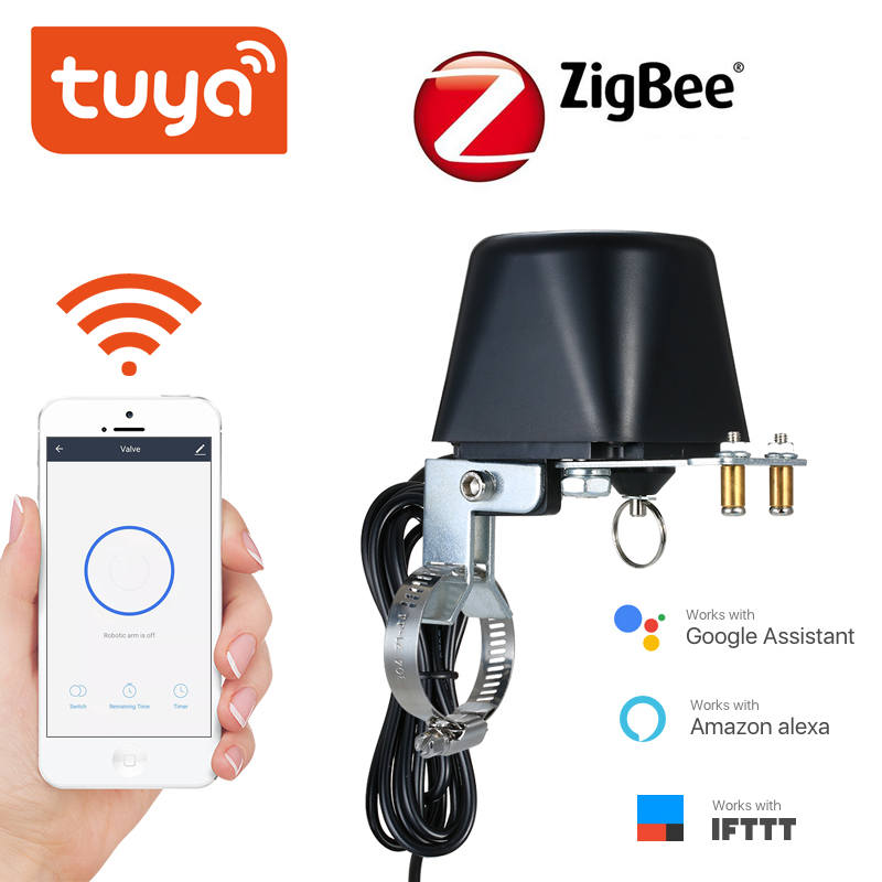 Tuya ZigBee Smart Wireless Control Gas Water Valve  Smart Home Automation Control Valve For Gas Work With Alexa,Google Assistant