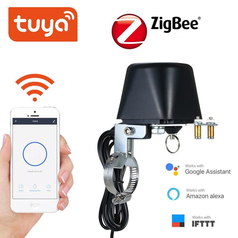 Vanne de contrôle intelligente sans fil Tuya ZigBee, pour gaz et eau, domotique, fonctionne avec Alexa et Google Assistant