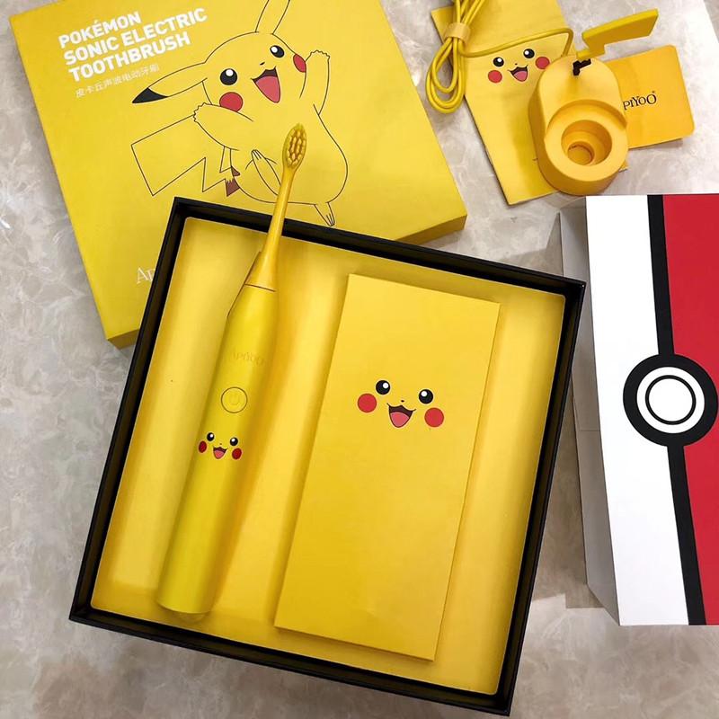 Sonic Electric Toothbrush High Quality Yellow Pokemon Toothbrush Wireless Induction Charging Ipx7 Waterproof Whitening Health