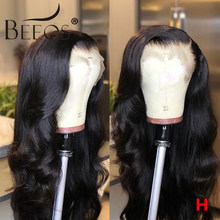 BEEOS Body Wave 360 Lace Frontal Wig Brazilian Remy Human Hair Wigs 180% With Baby Hair For Women Pre Plucked Bleached Knots(China)