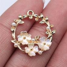Wysiwyg 4 pçs 23x23mm kc ouro cor grinalda encantos pingente para fazer jóias brinco fazer acessórios