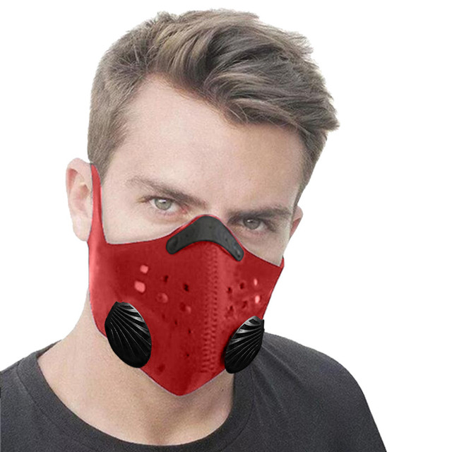 Unisex Breath  PM2.5 Mouth Masks Ear Straps Pollution Respirator Cycling Running Mask+Activated Carbon Filter 1