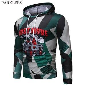 Image 1 - Camouflage Kerst Hoodies Mannen 2019 Grappige Schedel Rijden Auto 3D Gedrukt Hooded Sweatshirts Heren Hip Hop Hipster Streetwear Mannelijke