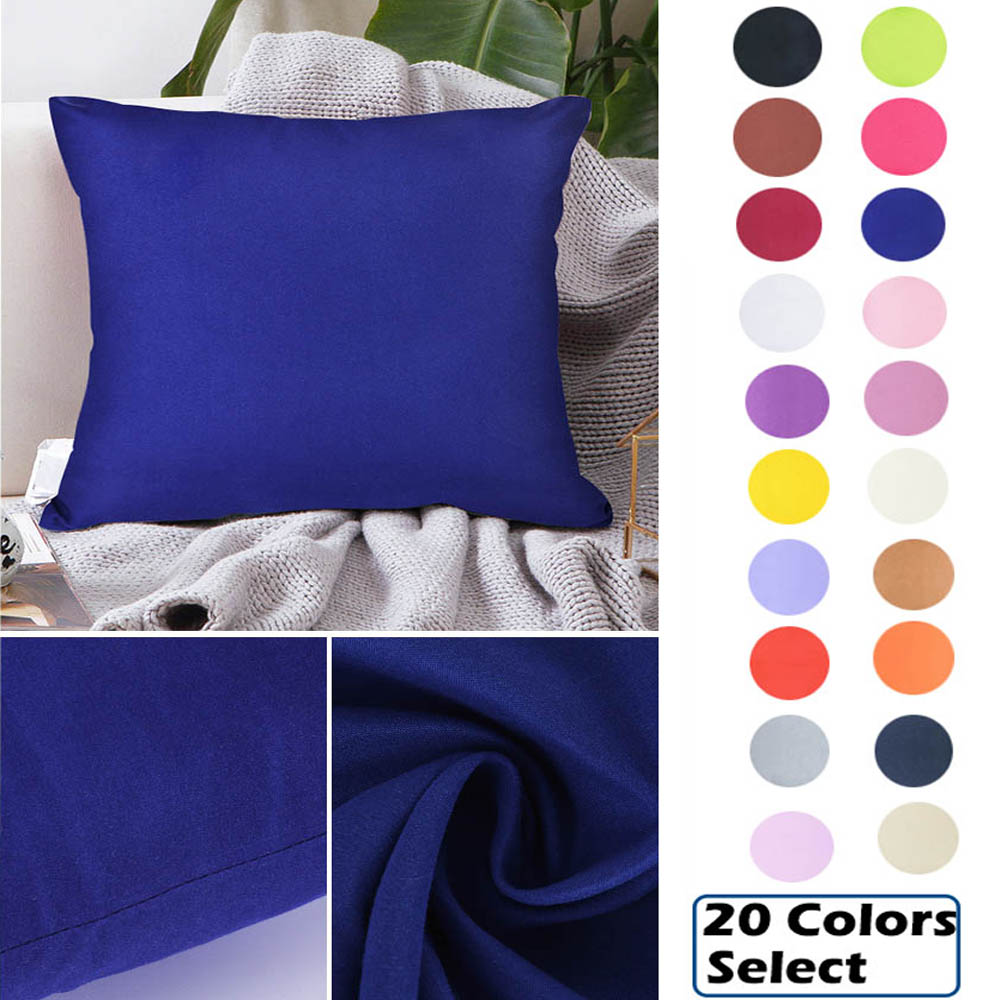 New 1pc 40x40cm Solid Color Pillow Cover Home Pillowcase Throw Pillows Home Decorative