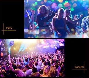 Чешское стекло диско шар питаемые через USB порт сценический светильник RGB сценический декорирующий проектор 4-светодиодный вращающийся зеркальный диско шар для вечерние праздничные для Android