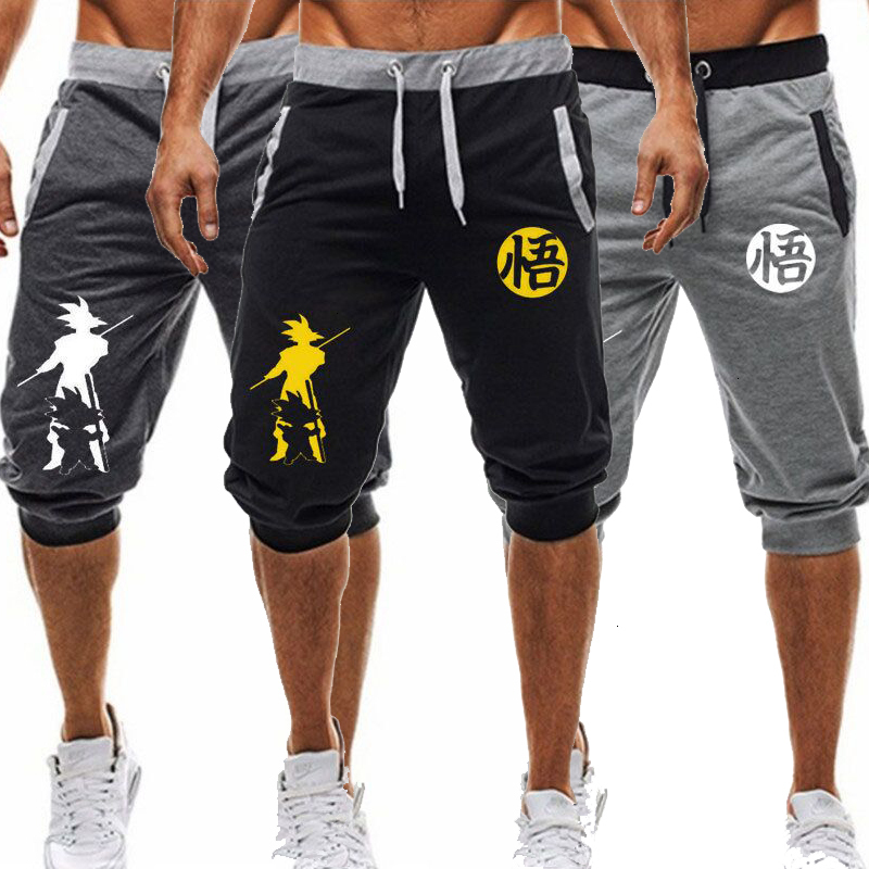 Gym New Brand Men Hip Hop Dragon Ball Sports Jogging Shorts Joggers 2019 Length Male Knee Length Broek Hare Book Sweatpants