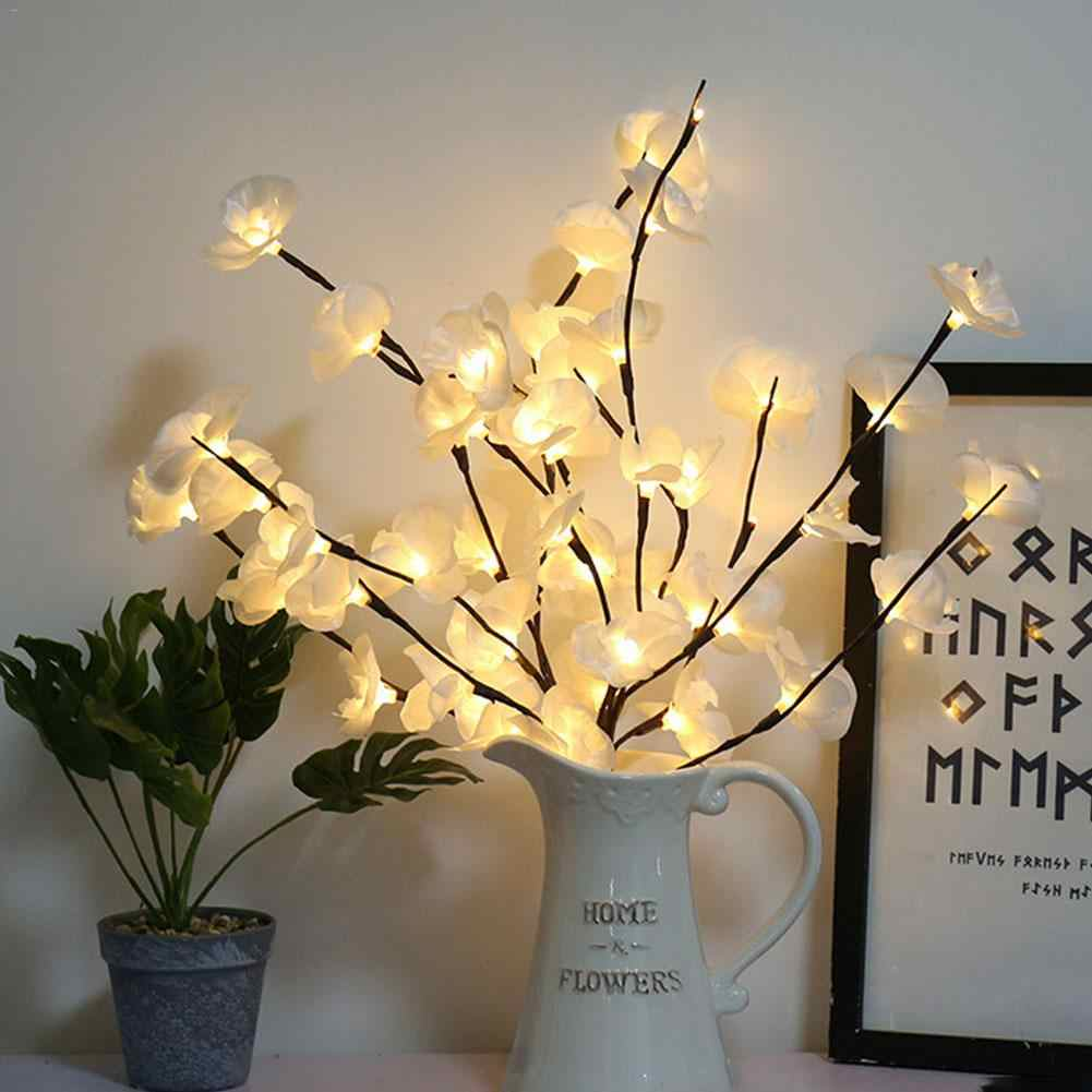 LED Phalaenopsis Branch Light Flower 20 LEDs Christmas Home Party Decoration Floral Lights Willow Branch Lamp Birthday Gift