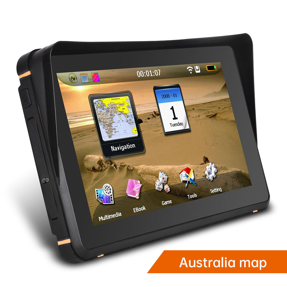 7 inch motorcycle&car GPS navigator 256Mb+8GB Flash waterproof Resistive touch screen motorcycle GPS navigator system