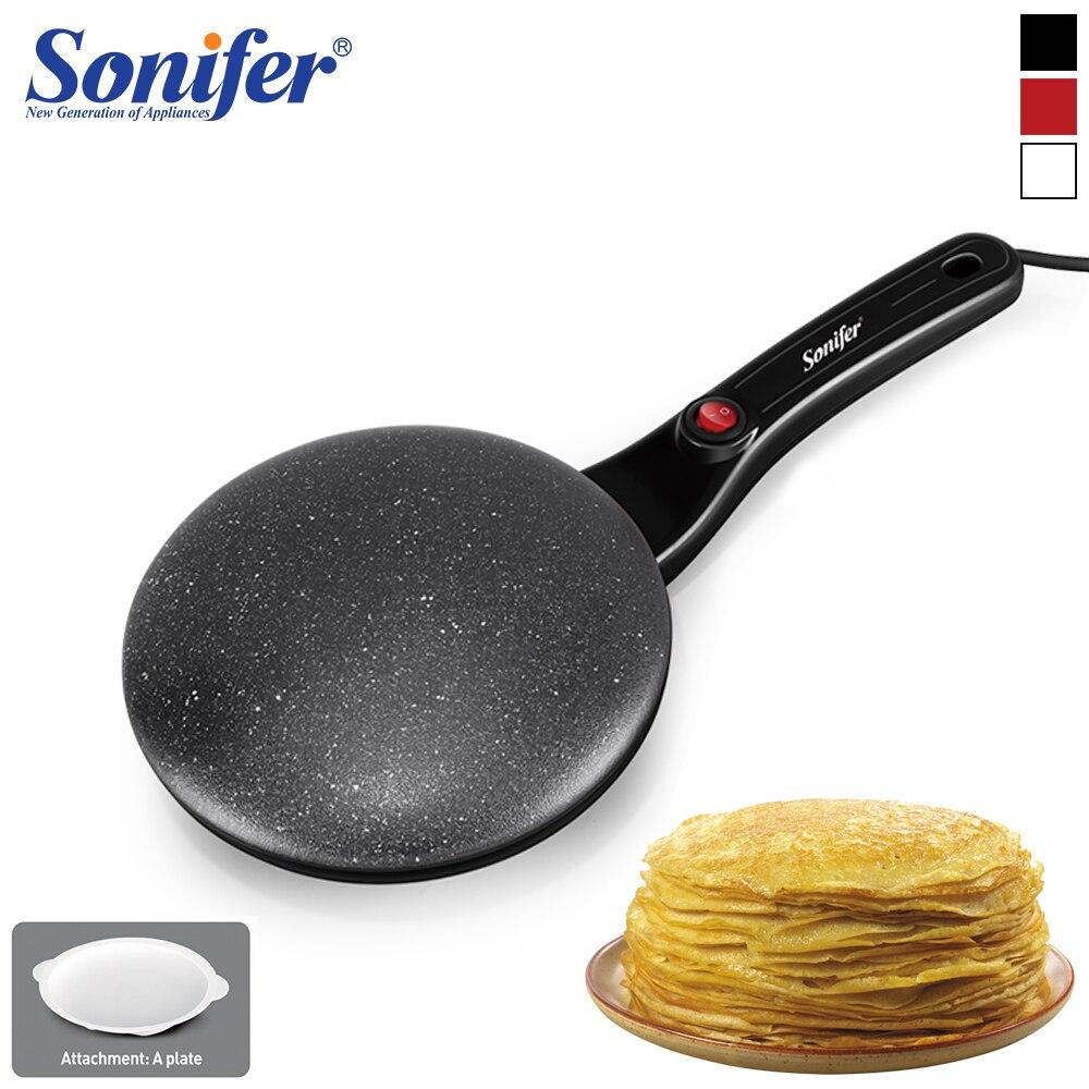 Electric Crepe Maker Machine Pancake Pan Non-Stick Griddle Baking Pan Cake Machine Kitchen Cooking Pan Pie Frying 220V Sonifer
