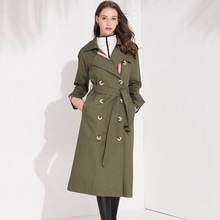 Trench Coat women Casual Single Breasted long Outerwear loose clothes for lady with belt autumn fashion high quality army green new arrival autumn trench coat women loose clothing outerwear high quality double breasted women hooded long coat