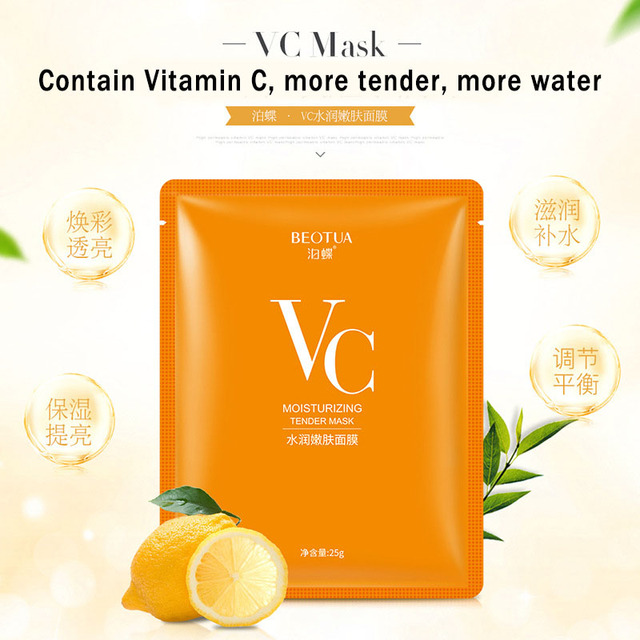 10 pcs VC Moisturizing Rejuvenation Face Mask High Quality Acne Treatment Oil Control Shrink Pores Moisturizing Vitamin Mask 1