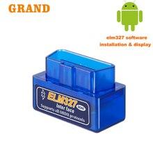 OBD2 ELM327 V 1.5 OBD2 Bluetooth OBD2 tarayıcı araç teşhis aracı kod okuyucu araba tarayıcı otomotiv otomatik takım